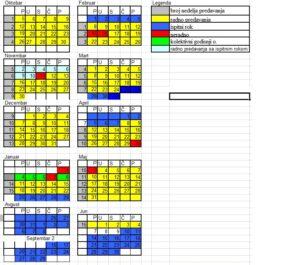 radni kalendar